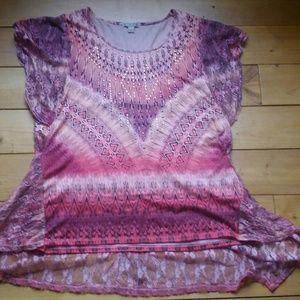 Tops - NWOT Pink & Orange Dressy Top